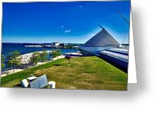 The Milwaukee Art Museum On Lake Michigan Greeting Card