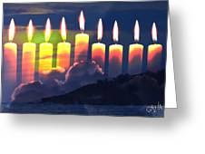 The Miracle Of Lights Greeting Card
