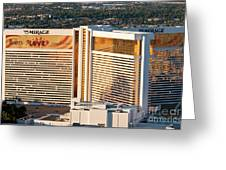 The Mirage Hotel Greeting Card by Andy Smy