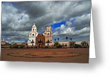 The Mission In Tuscon Arizona Greeting Card