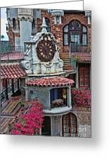 The Mission Inn Clock Tower Greeting Card