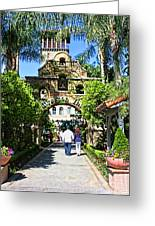 The Mission Inn Stage Coach Entrance Greeting Card