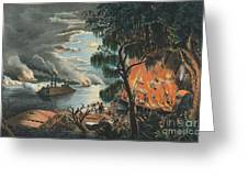 The Mississippi In Time Of War, 1865  Greeting Card