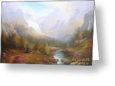 The Misty Mountains Greeting Card by Joe  Gilronan