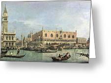 The Molo And The Piazzetta San Marco Greeting Card