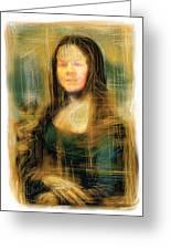 The Mona Lisa Greeting Card