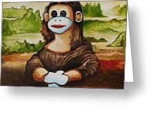 The Monkey Lisa Greeting Card