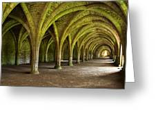 The Monks Cellarium, Fountains Abbey.  Greeting Card