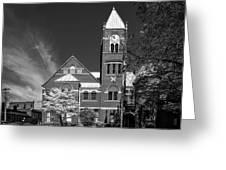 The Monongalia County Courthouse - Morgantown West Virginia Greeting Card