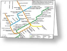 The Montreal Pubway Map Greeting Card