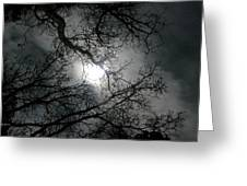 The Moon Prevails  Greeting Card