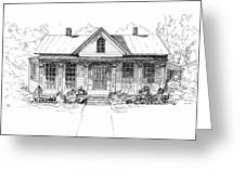 The Moore House Greeting Card by Barney Hedrick