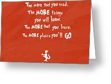The More You Read Greeting Card