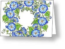 The Morning Glory Circle Watercolor Greeting Card