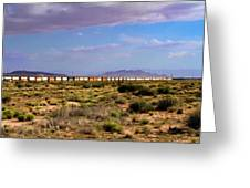 The Morning Train By Route 66 Greeting Card
