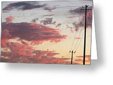 The Most #amazing #sunset Over #austin Greeting Card