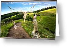 The Mountain Road  1 Greeting Card