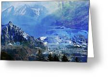 The Mountains Melting Snows Greeting Card