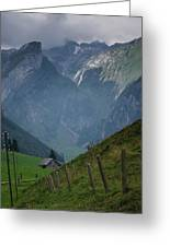 The Mountains Of Switzerland Greeting Card