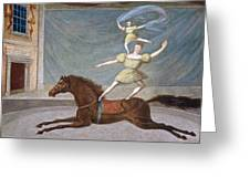 The Mounted Acrobats Greeting Card