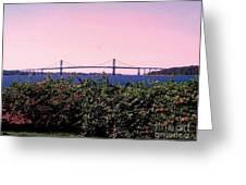 The Mt Hope Bridge Bristol Rhode Island Greeting Card