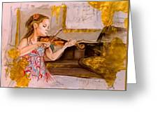 The Music Of Silence Greeting Card