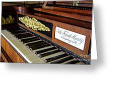 The Musical Keyboard Of Johann Friedrich Marty Antique Grand Piano Greeting Card