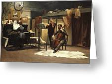 The Musicale, Greeting Card