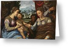 The Mystic Marriage Of Saint Catherine Greeting Card