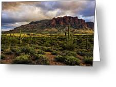 The Mystical Beauty Of The Superstitions  Greeting Card