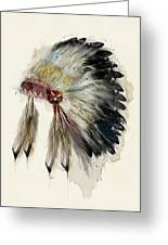 The Native Headdress Greeting Card