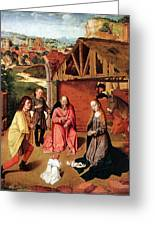 The Nativity By Gerard David  Greeting Card
