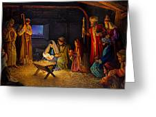 The Nativity Greeting Card by Greg Olsen