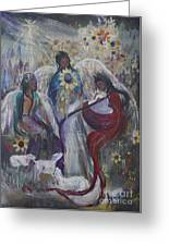The Nativity Of The Angels Greeting Card