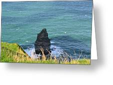 The Needle Off The Cliff's Of Moher In Ireland Greeting Card