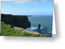 The Needle Rock Formation On The Cliff's Of Moher Greeting Card
