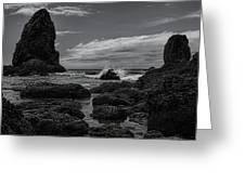 The Needles Black And White Greeting Card