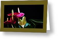 The Neon Garden Greeting Card
