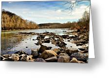 The New River At Whitt Riverbend Park - Giles County Virginia Greeting Card