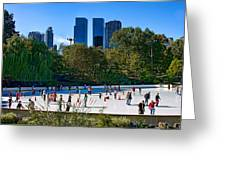 The New York Central Park Ice Rink  Greeting Card