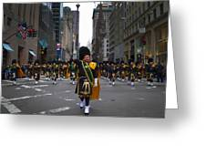 The New York City Police Emerald Society Pipe And Drum Corps Greeting Card