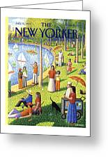 The New Yorker Cover - July 15th, 1991 Greeting Card