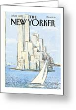 The New Yorker Cover - July 19th, 1982 Greeting Card