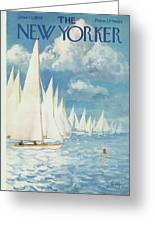 The New Yorker Cover - June 13th, 1959 Greeting Card