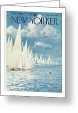 New Yorker Cover - June 13th, 1959 Greeting Card