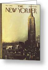 The New Yorker Cover - March 3rd, 1962 Greeting Card