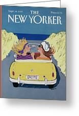 The New Yorker Cover - September 18th, 1989 Greeting Card