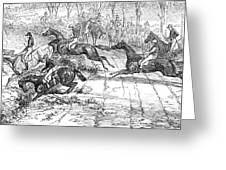 The Newport Pagnel Steeple Chase Greeting Card