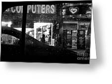 The Night Side Of Town - New York Greeting Card