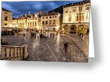 The Nights Of Dubrovnik Greeting Card